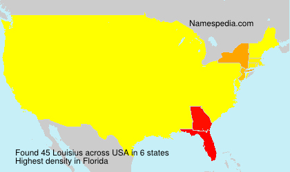 Surname Louisius in USA
