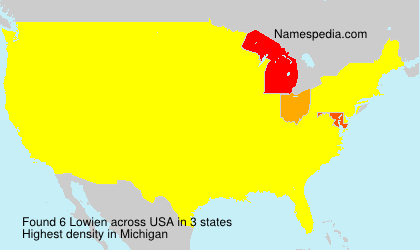 Surname Lowien in USA