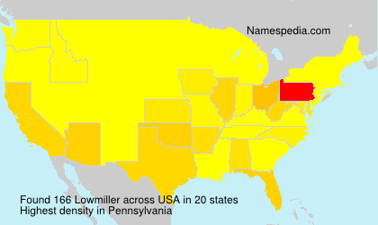 Surname Lowmiller in USA