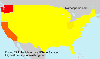 Surname Lubetich in USA