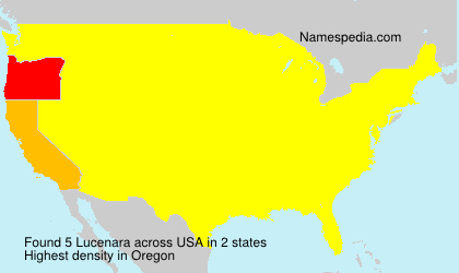 Surname Lucenara in USA