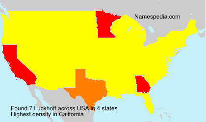 Surname Luckhoff in USA