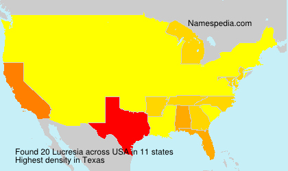 Surname Lucresia in USA