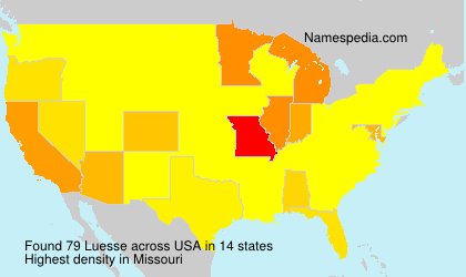 Surname Luesse in USA