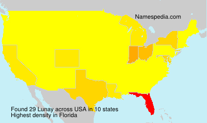 Surname Lunay in USA