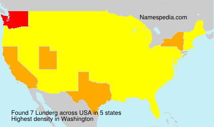 Surname Lunderg in USA
