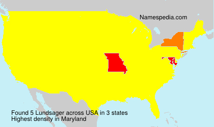 Surname Lundsager in USA
