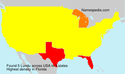 Surname Lundu in USA