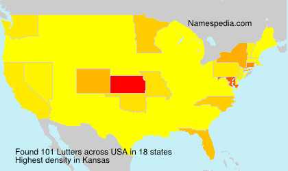 Surname Lutters in USA