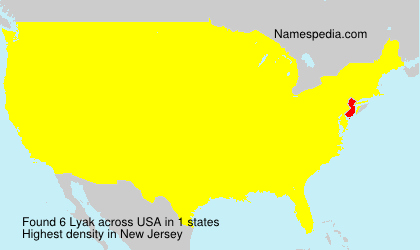 Surname Lyak in USA