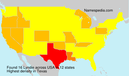 Surname Lyndie in USA