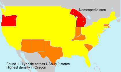 Surname Lyndsie in USA