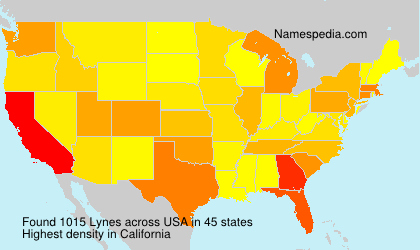 Surname Lynes in USA