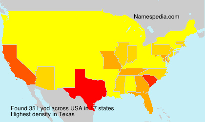 Surname Lyod in USA