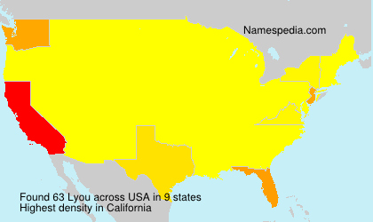 Surname Lyou in USA