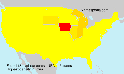 Surname Lyphout in USA