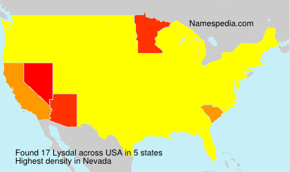 Surname Lysdal in USA