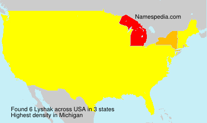 Surname Lyshak in USA