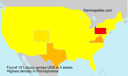 Surname Lyszaz in USA