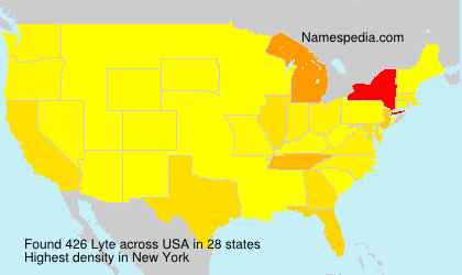 Surname Lyte in USA