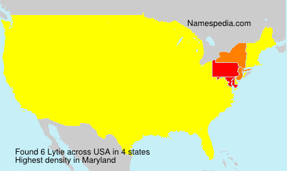 Surname Lytie in USA