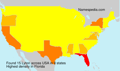 Surname Lyton in USA