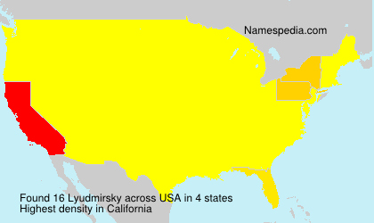 Surname Lyudmirsky in USA