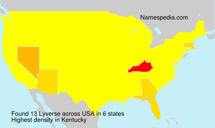 Surname Lyverse in USA