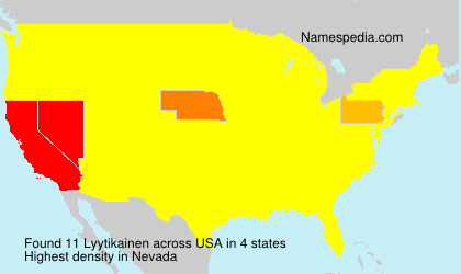 Surname Lyytikainen in USA
