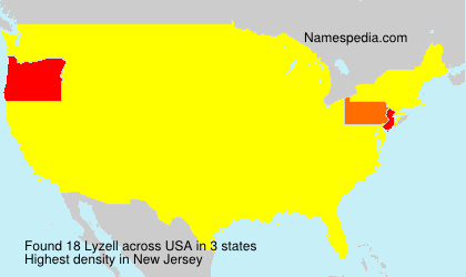Surname Lyzell in USA
