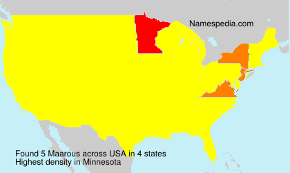 Surname Maarous in USA