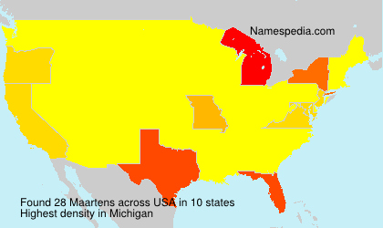 Surname Maartens in USA
