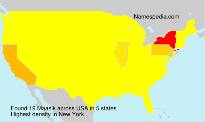 Surname Maasik in USA