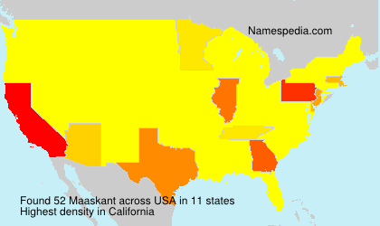 Surname Maaskant in USA