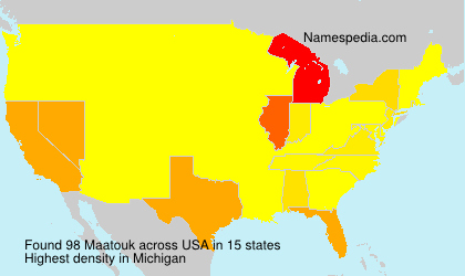 Surname Maatouk in USA