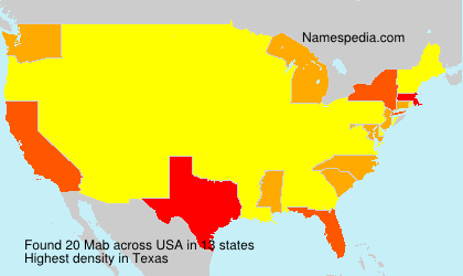 Surname Mab in USA