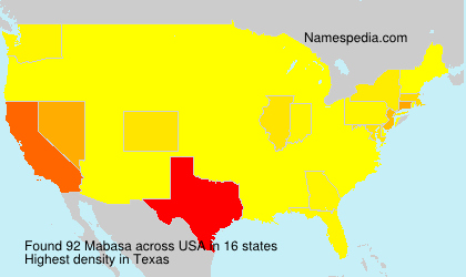 Surname Mabasa in USA