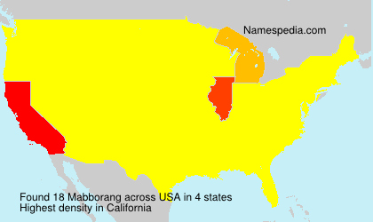 Surname Mabborang in USA