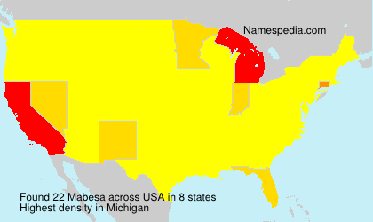 Surname Mabesa in USA