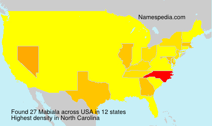 Surname Mabiala in USA