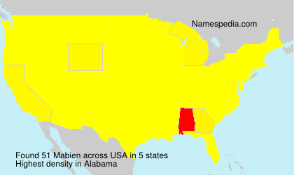 Surname Mabien in USA