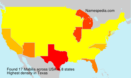 Surname Mabilia in USA