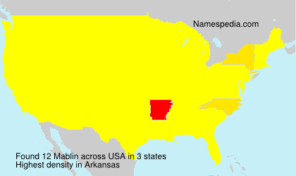 Surname Mablin in USA