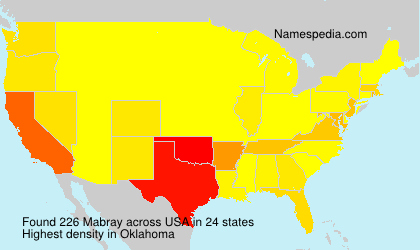 Surname Mabray in USA