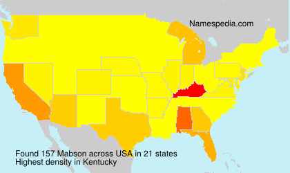 Surname Mabson in USA