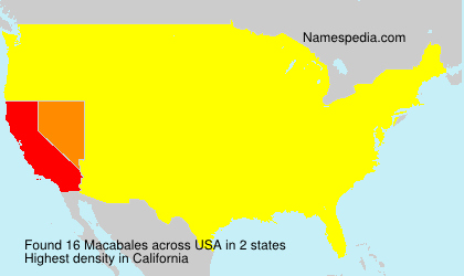 Surname Macabales in USA