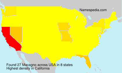 Surname Macagno in USA