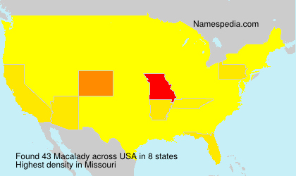 Surname Macalady in USA