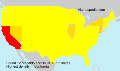 Surname Macaldo in USA