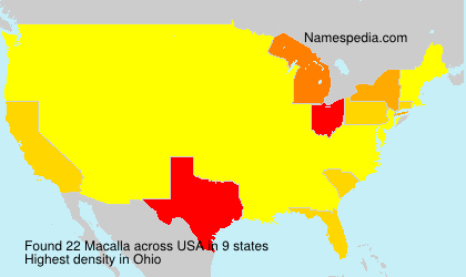 Surname Macalla in USA